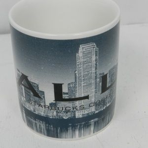 Starbucks Coffee Mug 2002 Big D Dallas Skyline